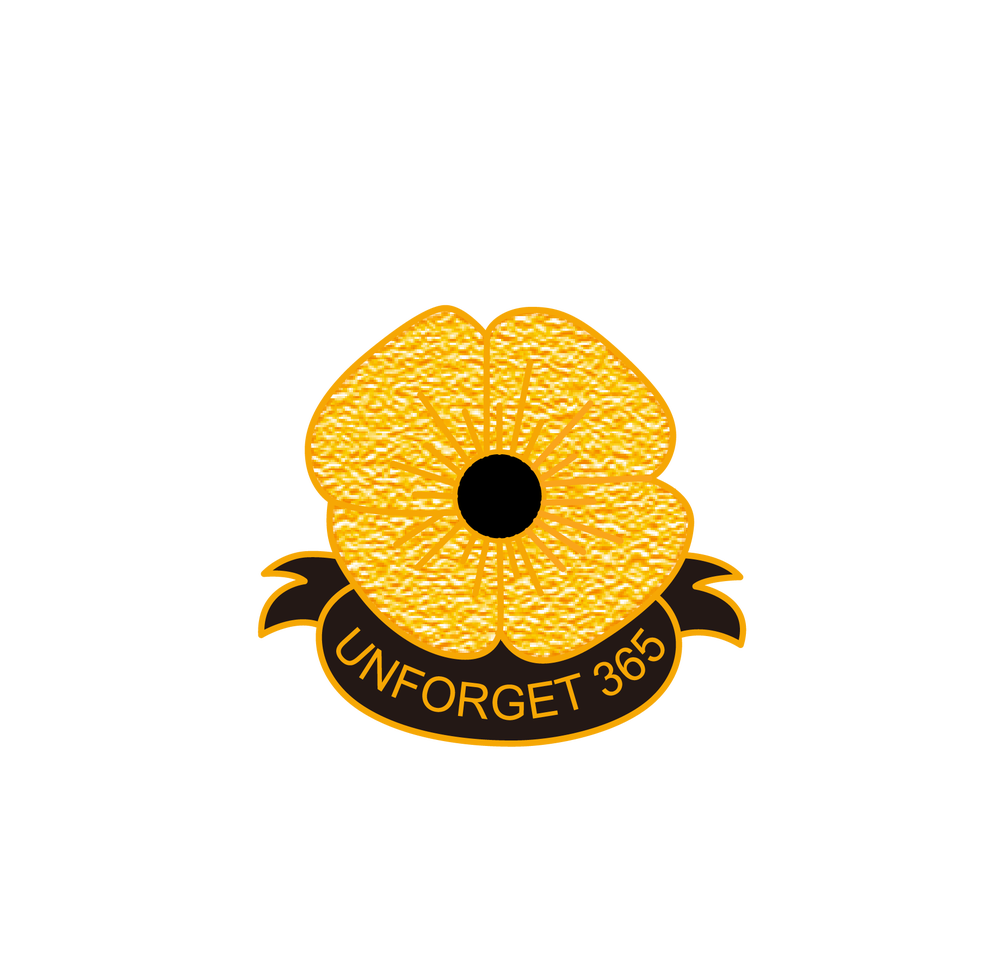 Image of FMN 'UNFORGET 365' GOLDEN POPPY MEDAL (28mm x 15.5mm)