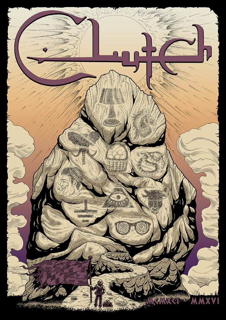 Image of Clutch '25th Anniversary' poster A/P EDITION