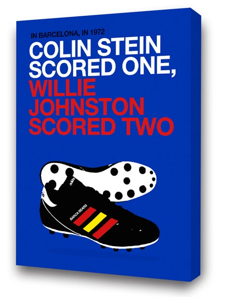 Image of Colin Stein & Wille Johnston Barcelona 72 Canvas