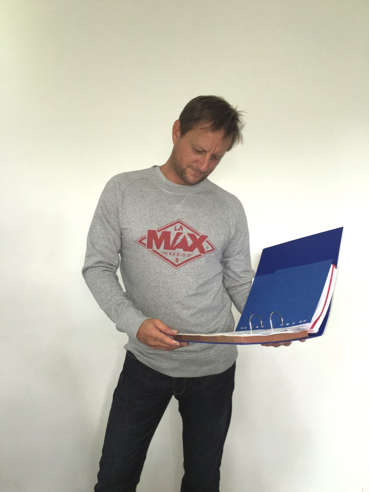 Image of Sweat-shirt  Gris - La MAX Radio - Rouge