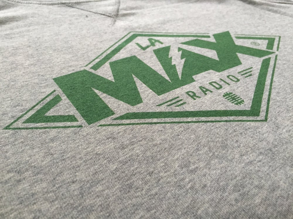 Image of Sweat-shirt  Gris - La MAX Radio - Vert