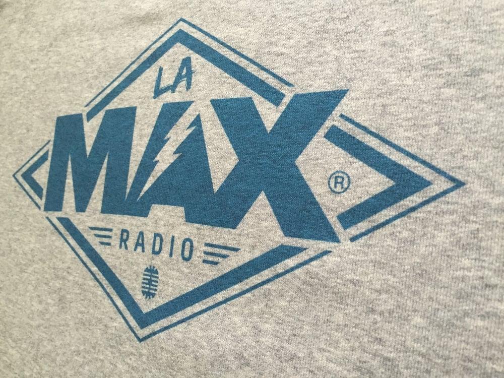 Image of Sweat-shirt  Gris - La MAX Radio - Bleu