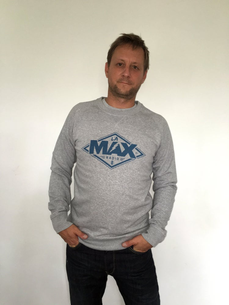 Image of Sweat-shirt  Gris - La MAX Radio - Bleu