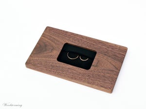 Image of Ring bearer box - ring bearer pillow - wooden wedding ring holder