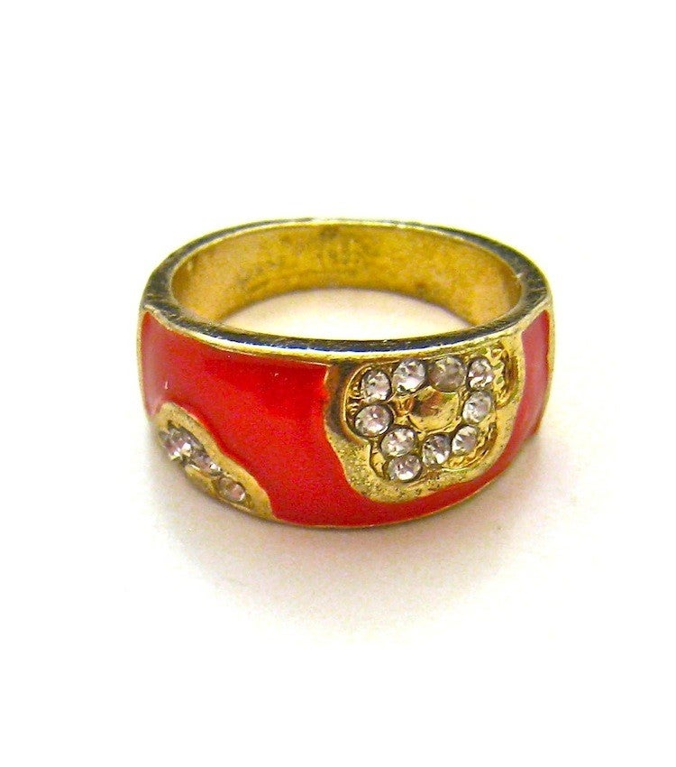 Image of Enamel Gold Rhinestone Band (More Colors)