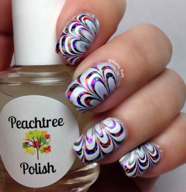 Image of See-Thru Watermarble Polish