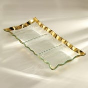 Image of Annieglass Ruffle Rectangular Tray