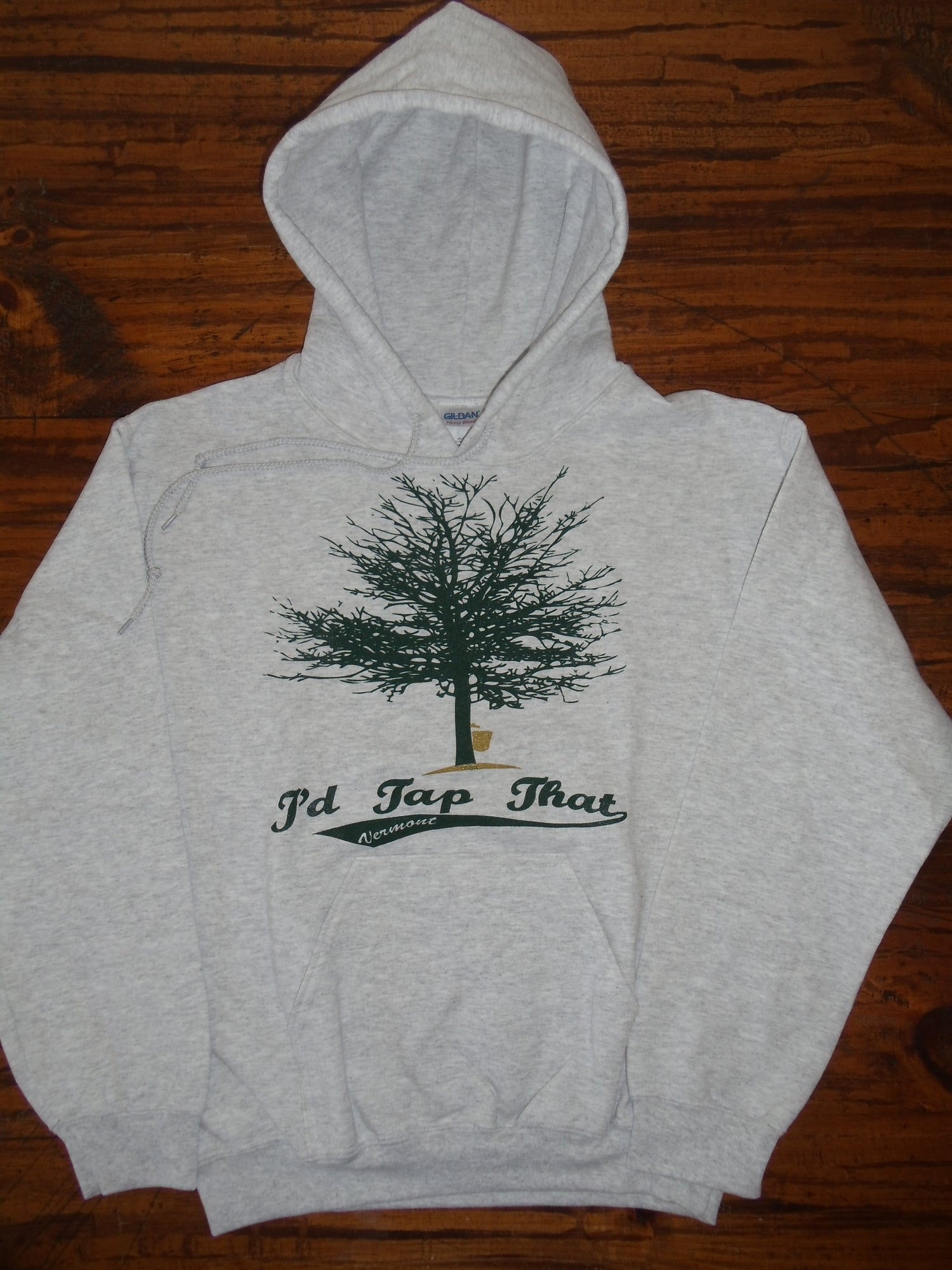 Image of I'd Tap That - Maple Syrup Tree - Vermont Hooded Sweatshirt VT Hoodie