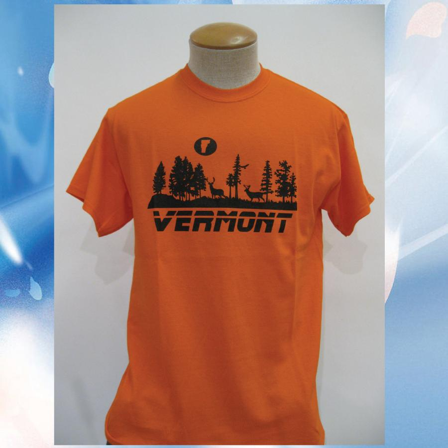 Image of Moonrise Vermont Shirt - deer VT moon - Vermont 802 T-Shirt - vermont clothing