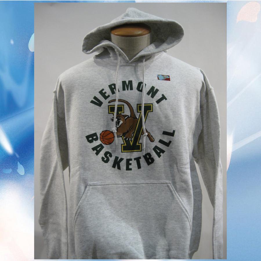 Image of Univeristy of Vermont (UVM) Basketball VCAT Hooded Sweatshirt - Sports Grey