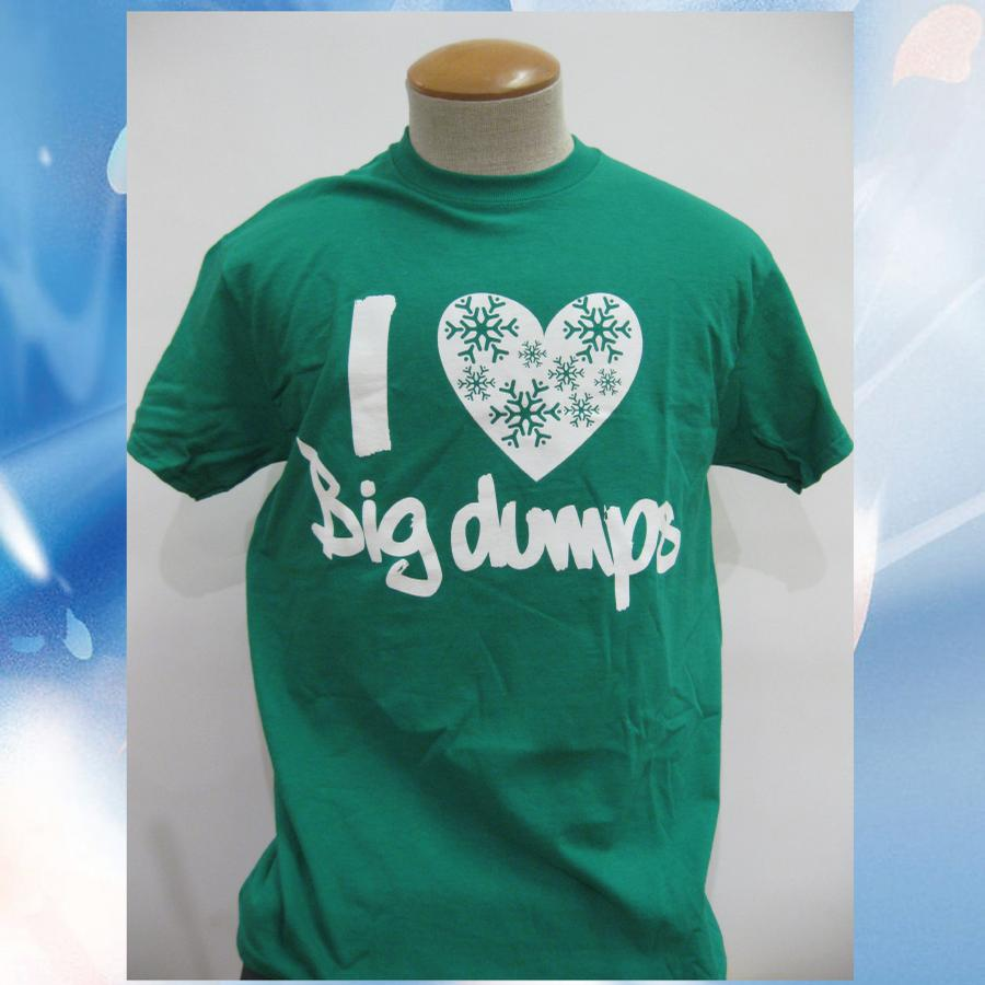 Image of I Love Big Dumps - Vermont 802 T-Shirt - vermont clothing - vermont store - skiing snowbarding