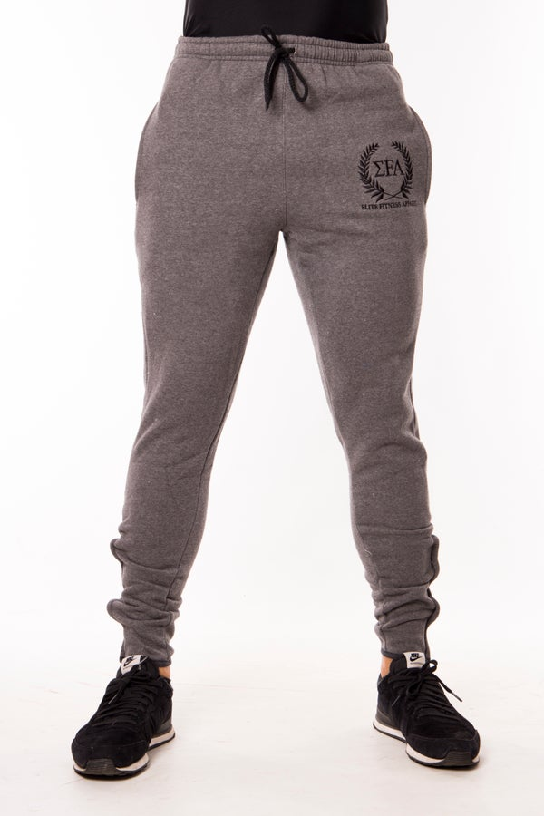Elite Joggers - Charcoal/Black - Elite Fitness Apparel