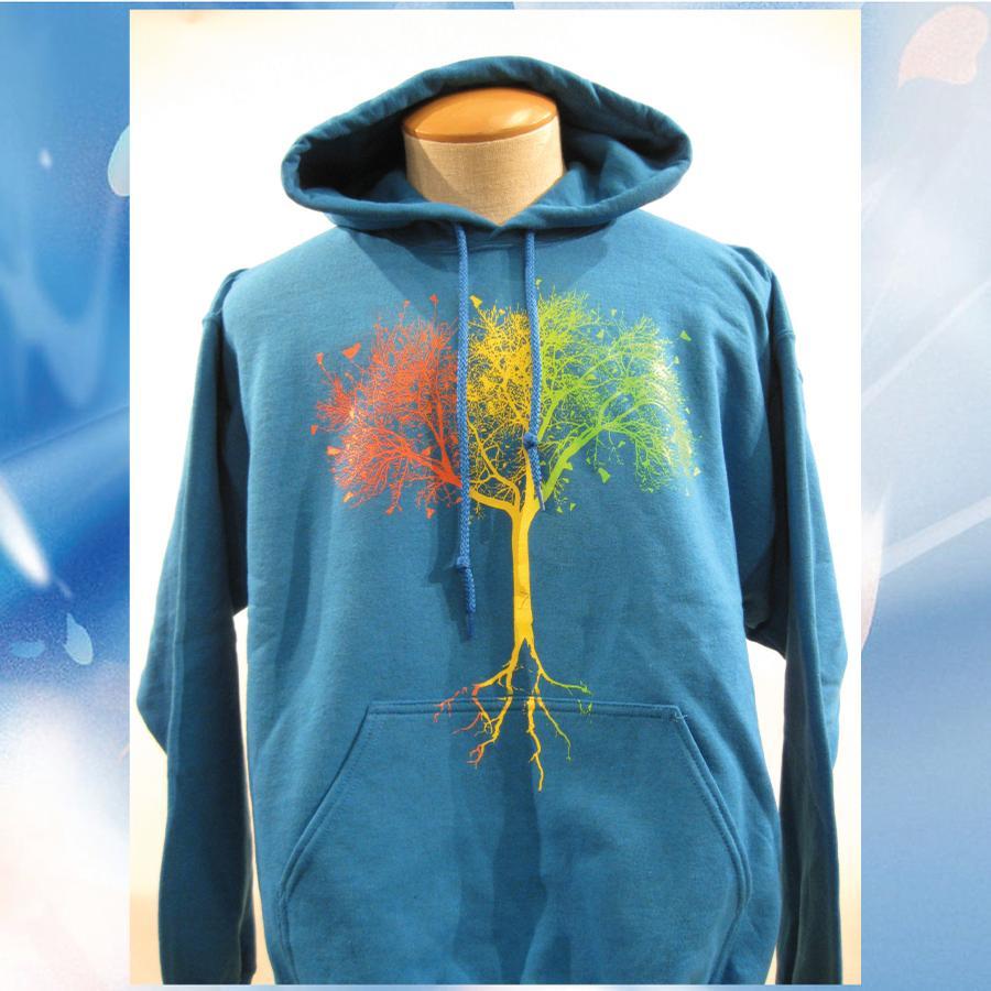 Image of Vermont 802 VTree hooded sweatshirt - Sapphire hoodie