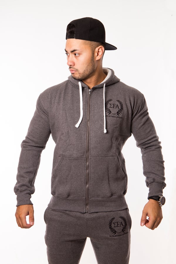 Elite Hoody - Charcoal/Black - Elite Fitness Apparel