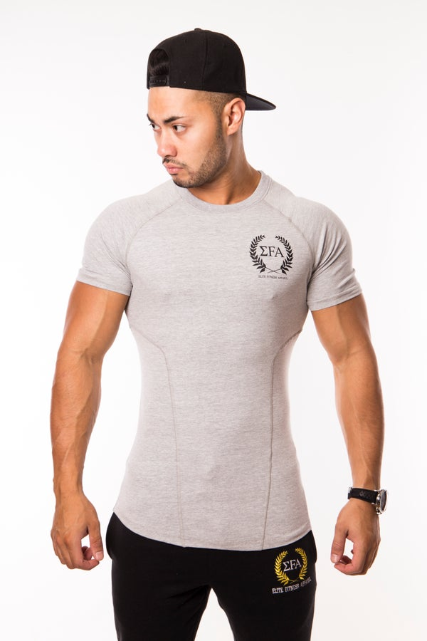 Elite Tee Marl - Elite Fitness Apparel
