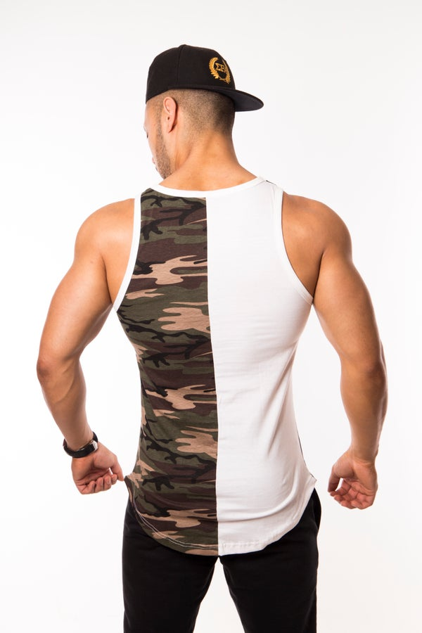 Elite Tank - Green/Camo - Elite Fitness Apparel