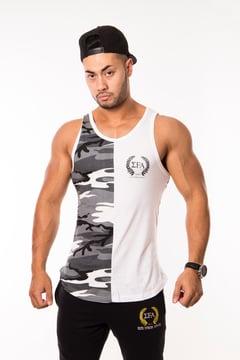 Elite Tank - Grey/Camo - Elite Fitness Apparel