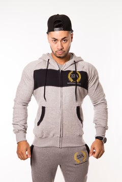 Elite Hoody - Grey/Black - Elite Fitness Apparel
