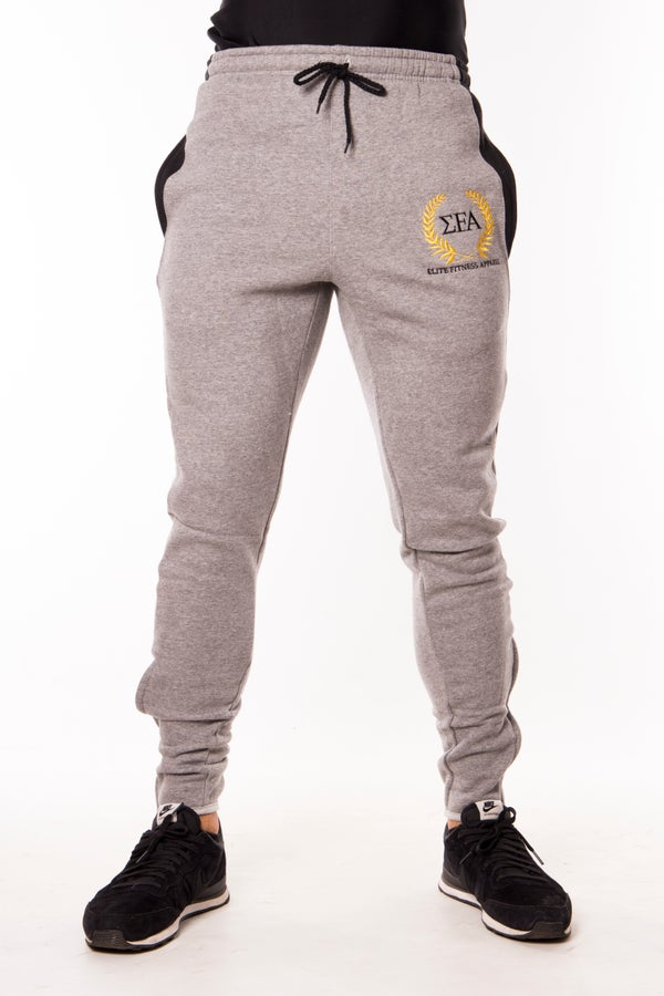 Elite Joggers - Grey/Gold - Elite Fitness Apparel