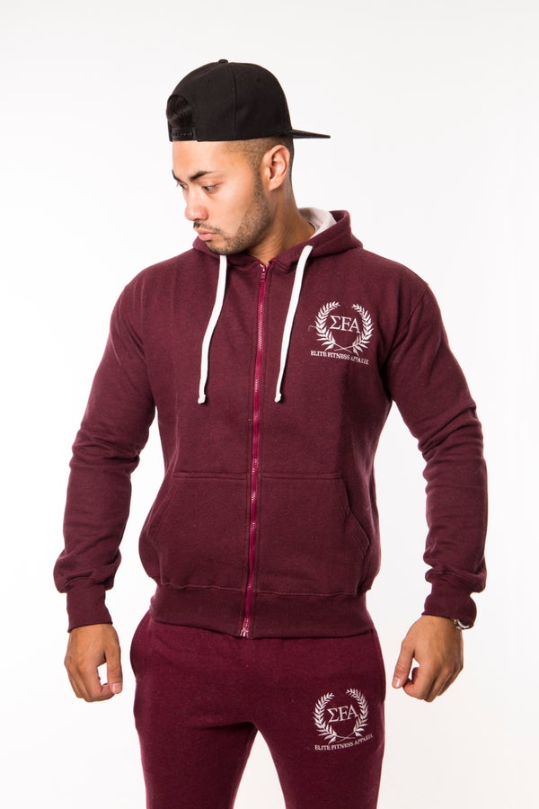Titan Hoody - Maroon - Elite Fitness Apparel