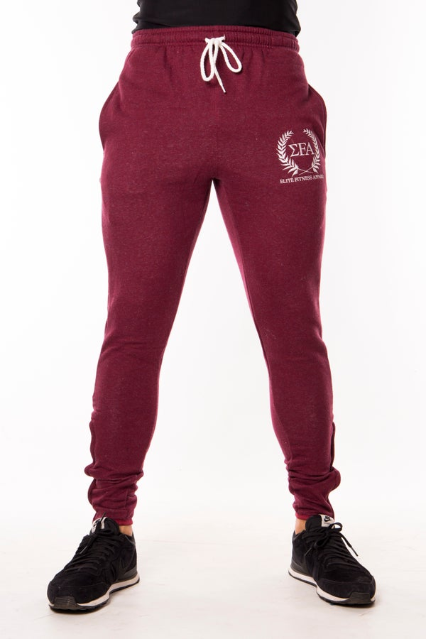 Titan Joggers - Maroon - Elite Fitness Apparel