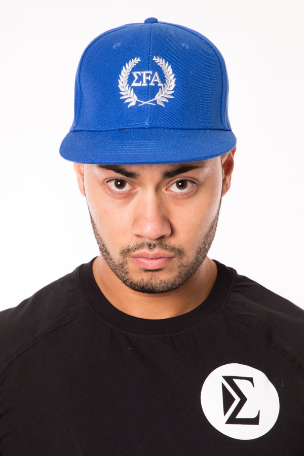 Elite Snapback - Cobalt/Silver - Elite Fitness Apparel