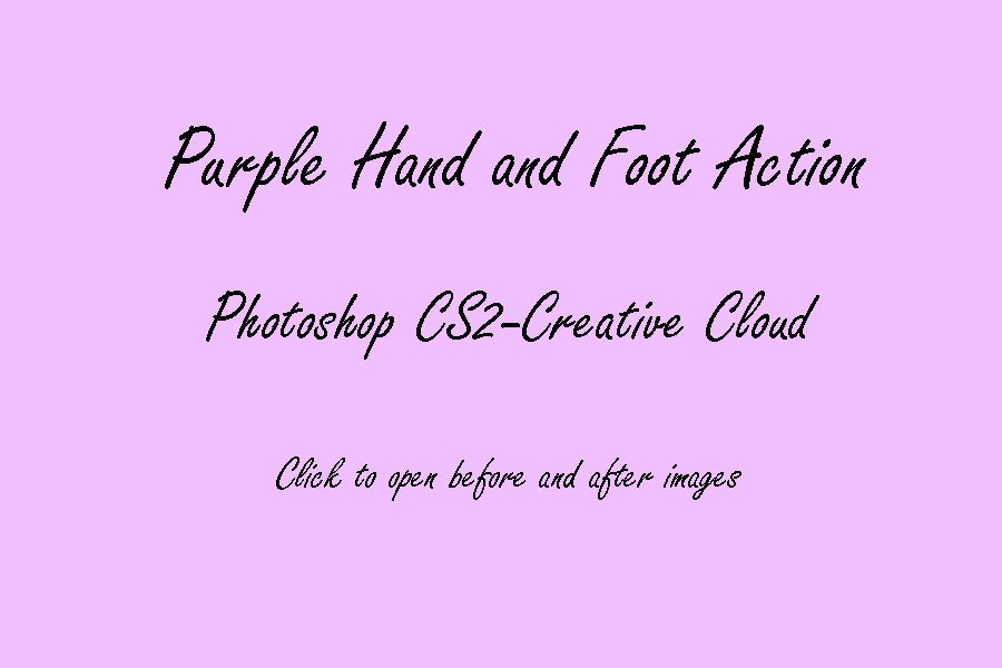 Image of PS CS2-CC : Purple Hand and Foot © Son Kissed Photography