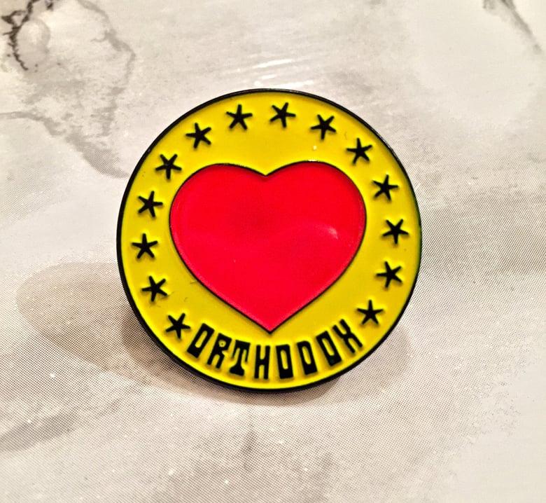 Image of Orthodox heart enamel pin