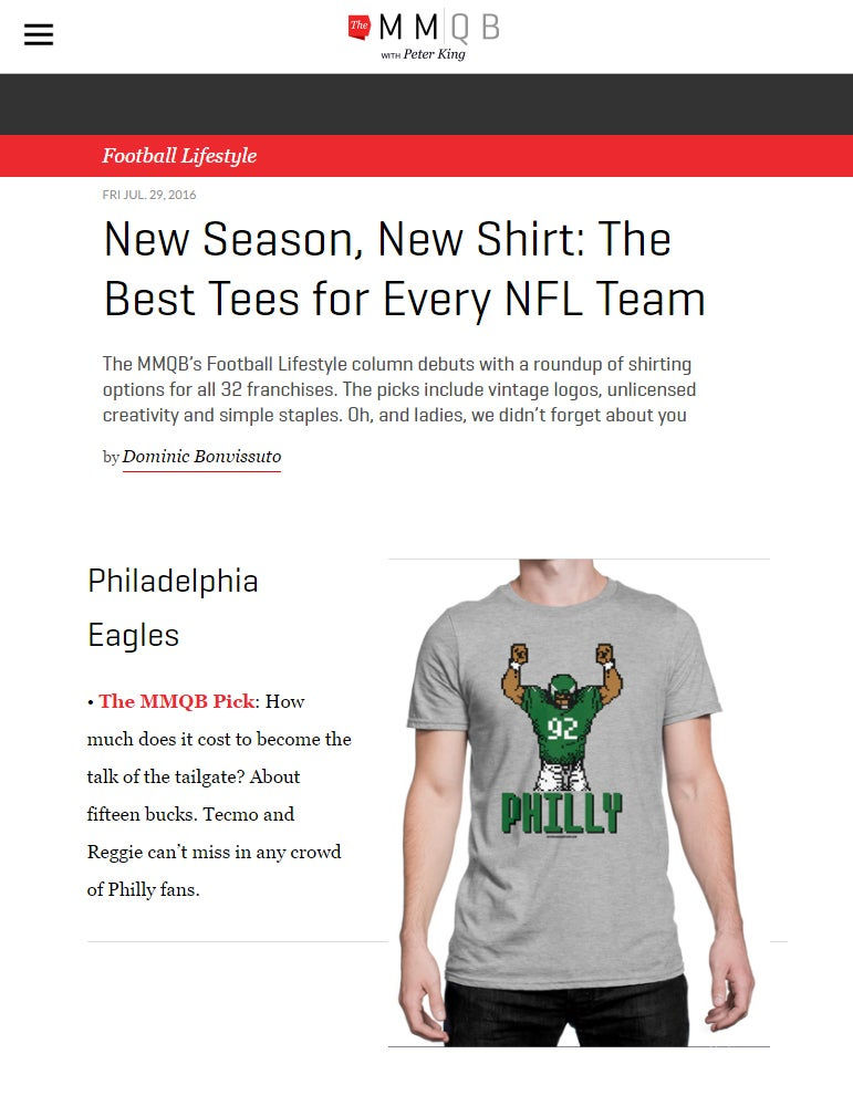 Image of 8-Bit Philly Football #92 T-Shirt
