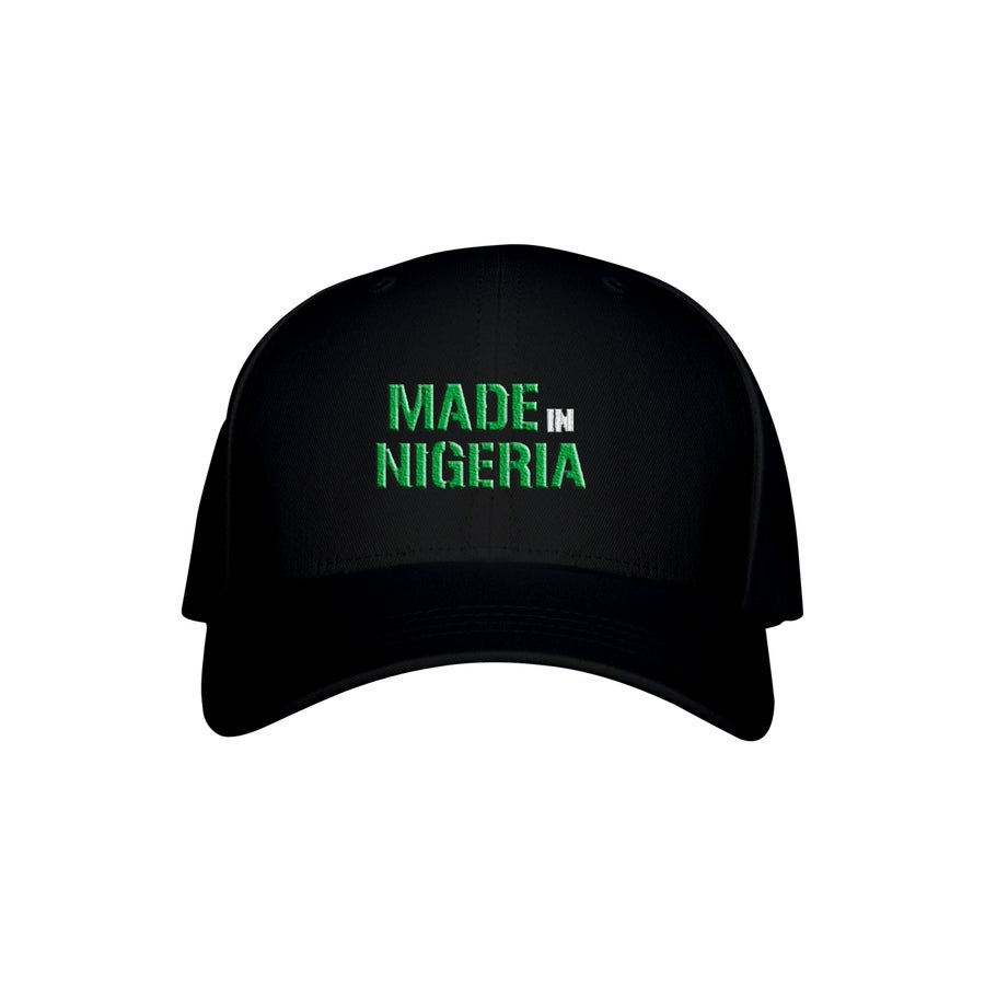 Image of MADE IN NIGERIA HAT - BLACK