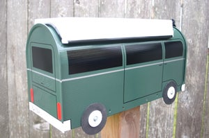 Image of Hunter Green Bay Window Volkswagen Bus Camper by TheBusBox VW Westy