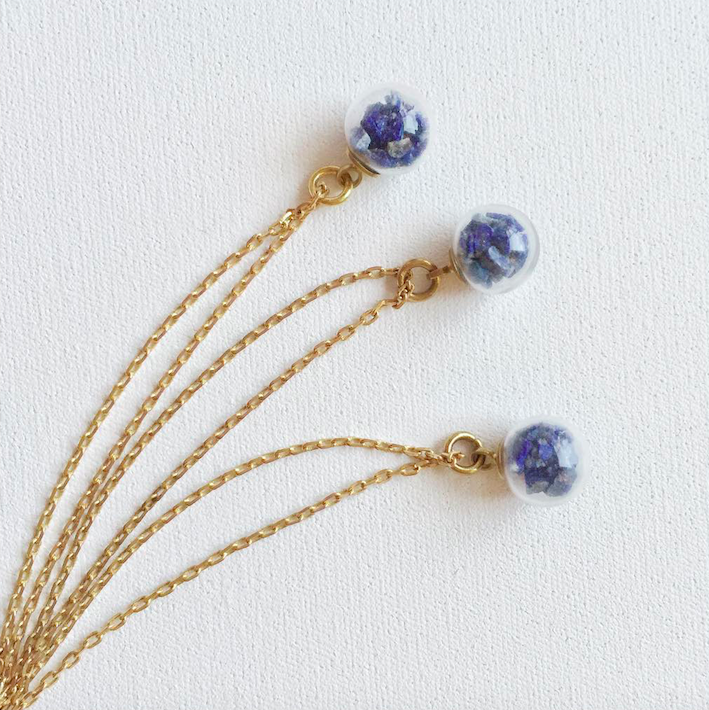 Image of Little Pieces of Lapis Lazuli - gold or silver
