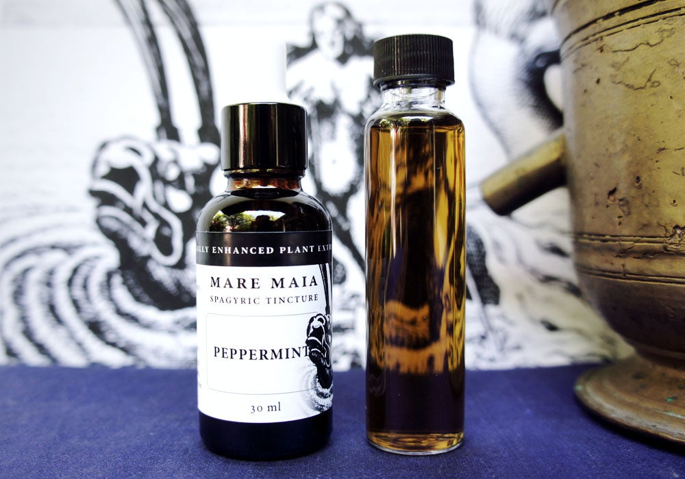 Image of PEPPERMINT spagyric tincture - alchemically enhanced plant extraction