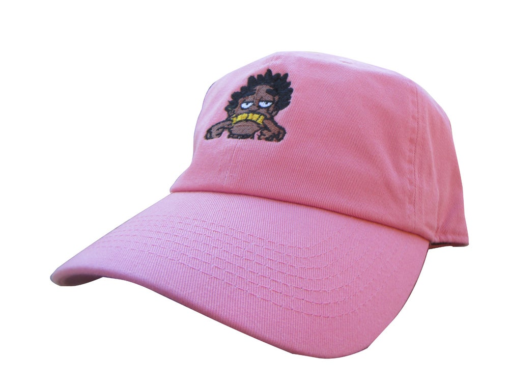 Image of Kodak Black Salmon Pink Emoji Meme Custom Twill Cotton Dad Hat Cap 6444bd5d625