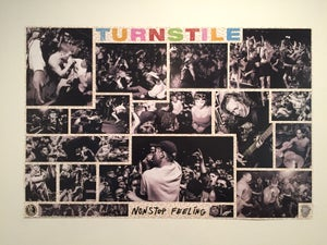 "Image of TURNSTILE ""Nonstop Feeling"" Poster - FOLDED"