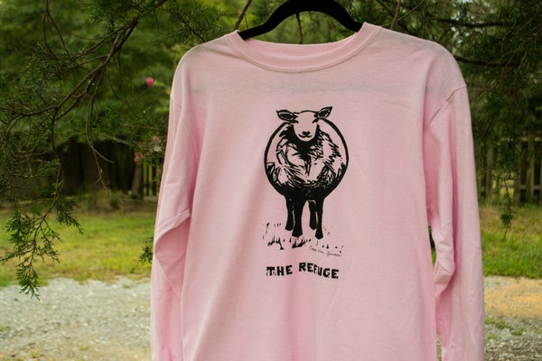 Image of Youth | long sleeve, pink, Sheep logo