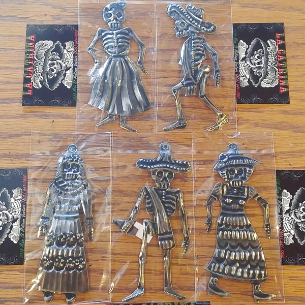 Image of Sm. Oaxaca Tin DDLM Figurines