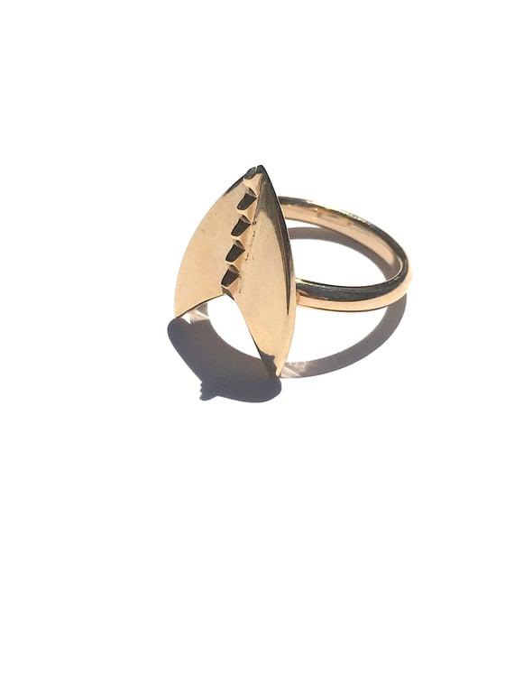 Image of 14k Gold Shield Ring