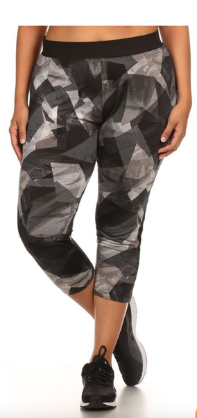 Image of MESH ABSTRACT CAPRI LEGGINGS