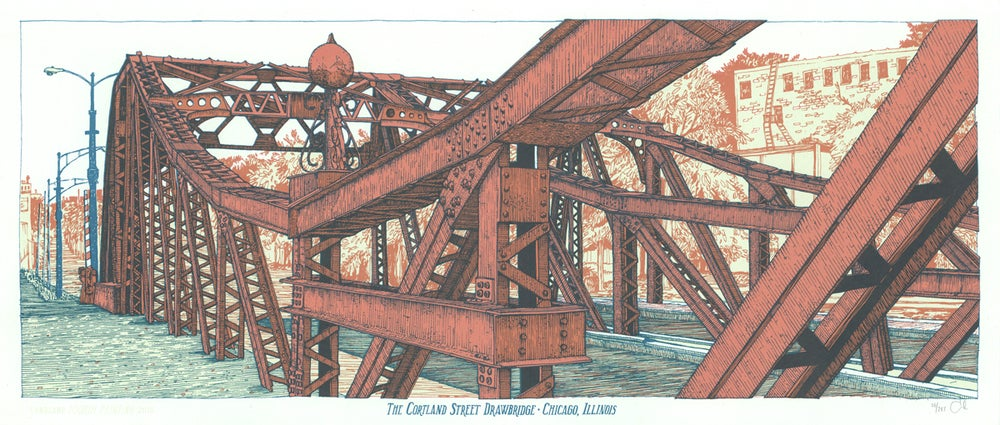"Image of ""The Cortland Street Drawbridge"" •Limited Edition Art Print (9.5"" x 24"")"