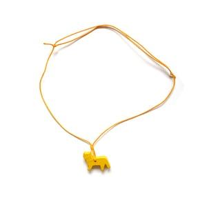 Image of Anhänger und Halskette von COPAINCOPIN- Katze gelb