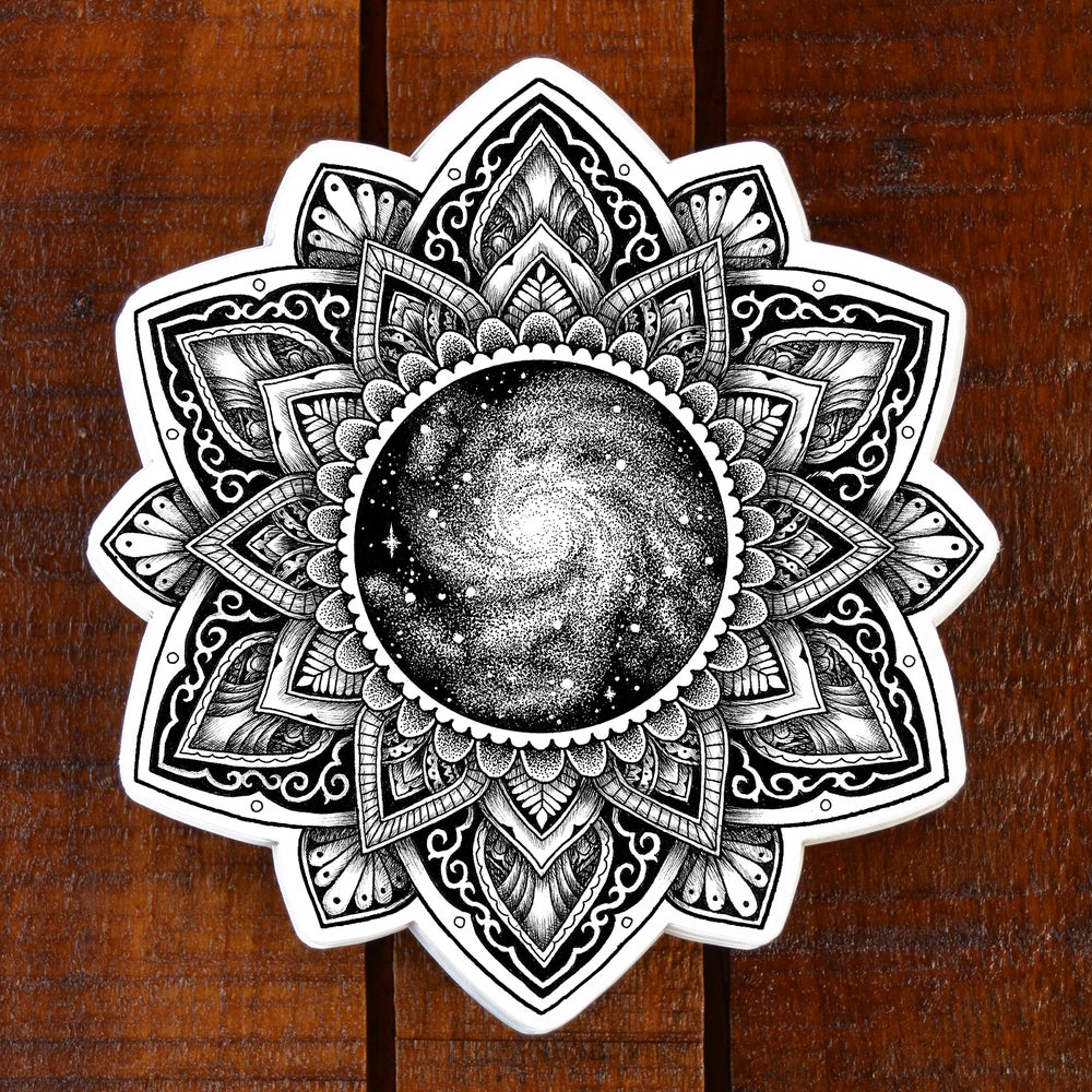 Image of Galaxy Mandala Sticker
