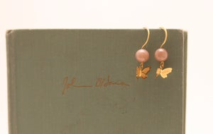 Image of Brass Butterfly Earrings