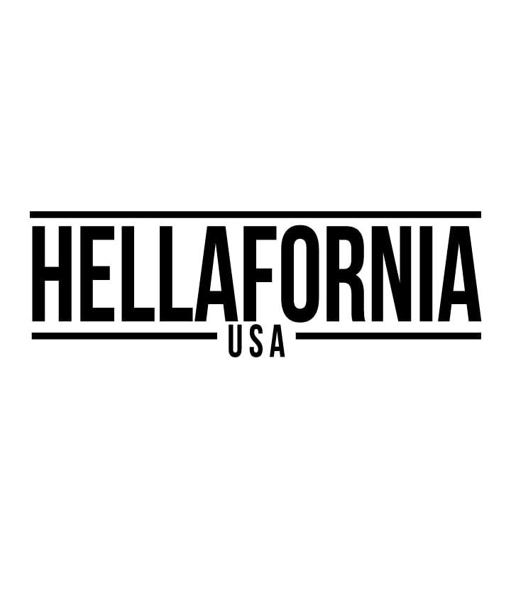 "Image of (8 Color Selection) 12"" Hellafornia USA Sticker"