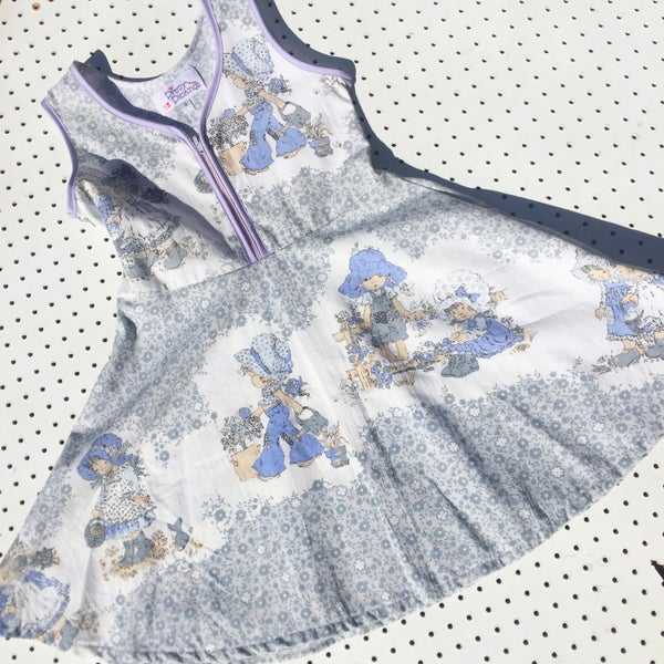 Image of Size 4 'vintage twirl' dress - grey floral Holly Hobbie