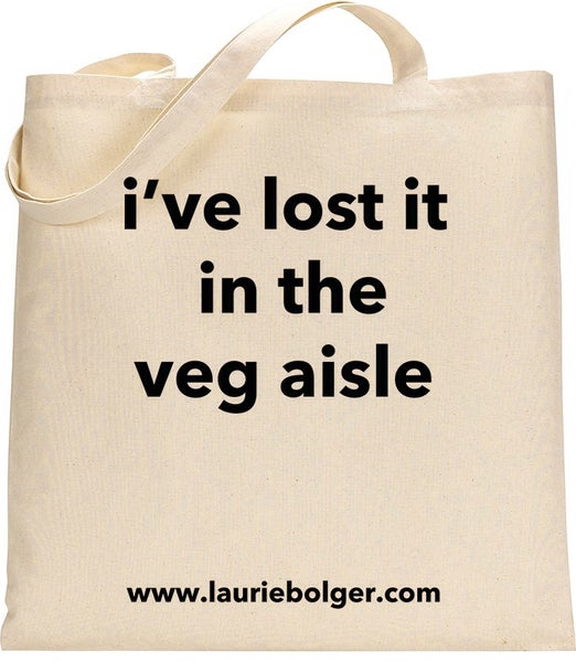 Image of I've lost it in the veg aisle Hipster Shopper