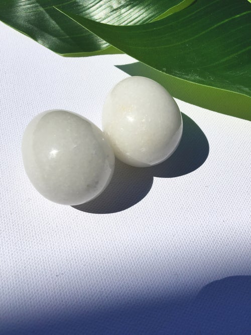 Image of YONI EGGS :: White Jade :: Large