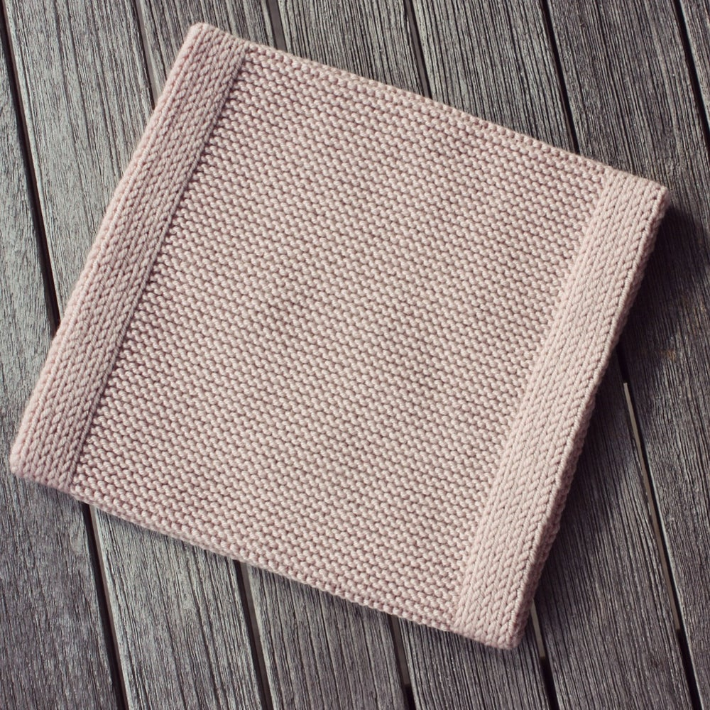 Image of Snood 100% Laine                                  Rose poudrée