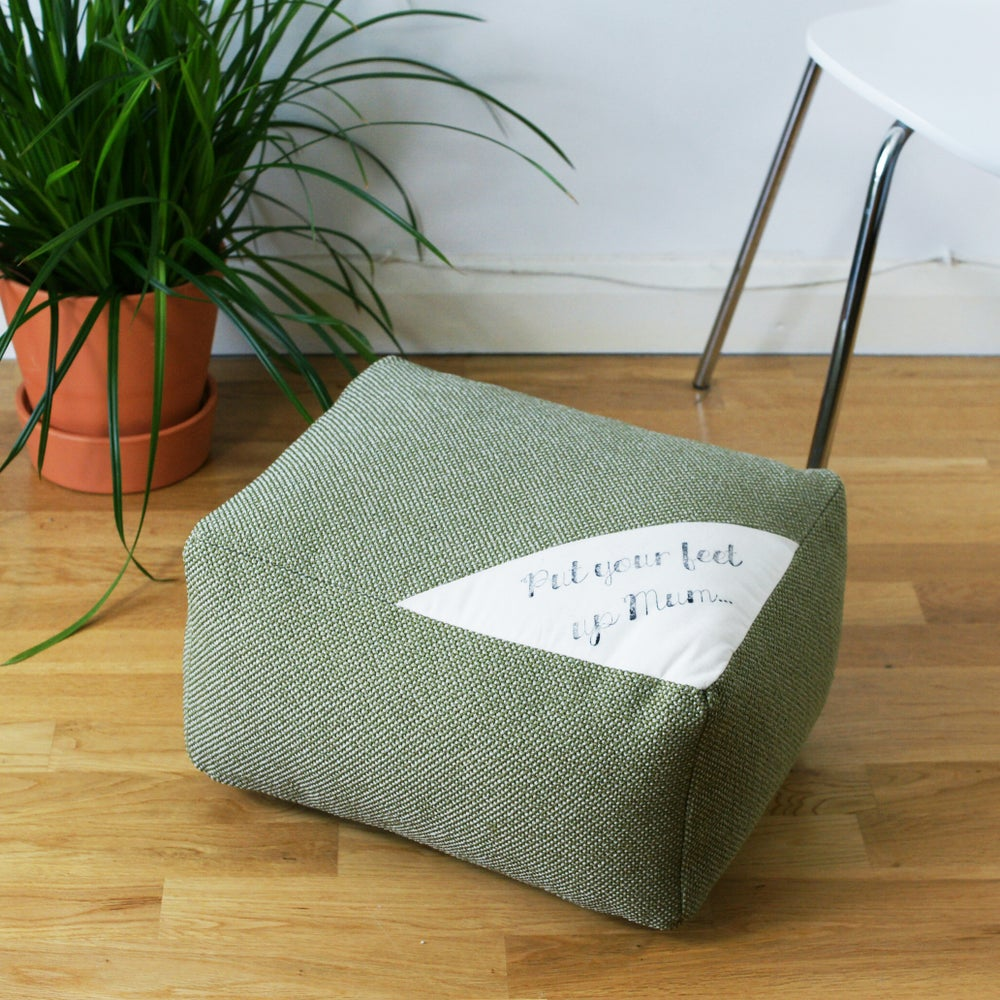 Image of Made to order 'Put Your Feet Up Mum' pouffe