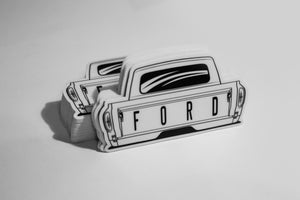 Image of Rear of the Ford F100 Sticker